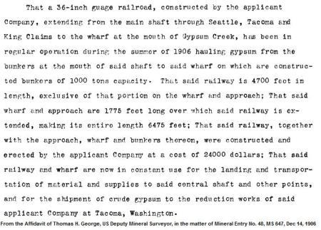 gypsum affidavit