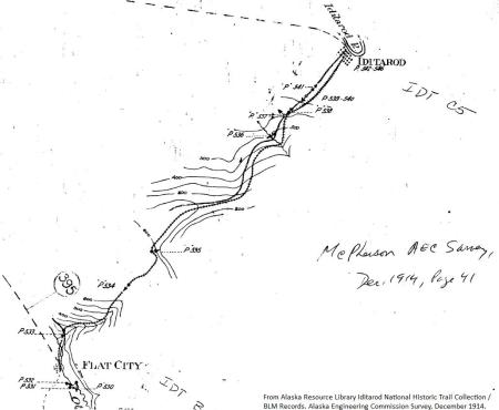 Iditarod tramway map