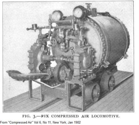 Rix compressed air locomotive