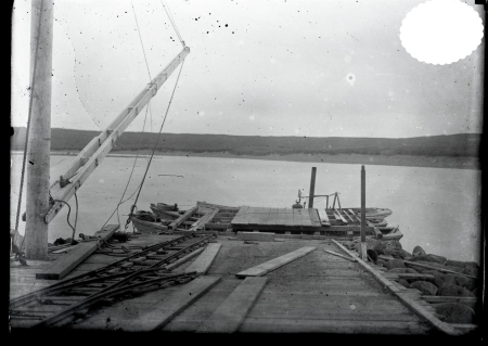 Boat landing at St. Paul, from Record Group 22 of the US Fish & Wildlife Service. https://catalog.archives.gov/id/23854005
