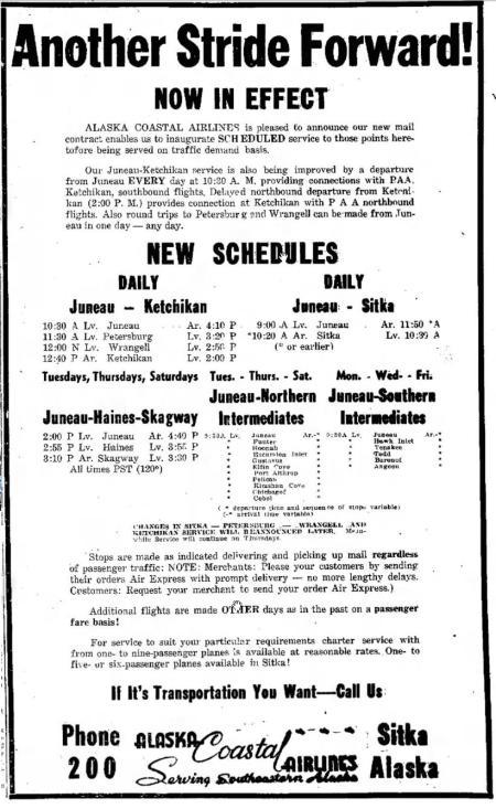 Alaska Coastal Ad - Daily Sitka Sentinel - 9 Jul 1947