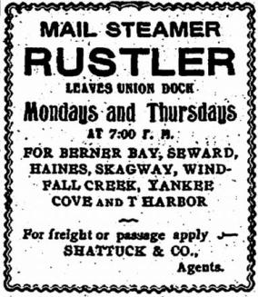 Mail Steamer Rustler 1903