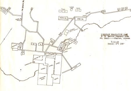 1942 Cannery map